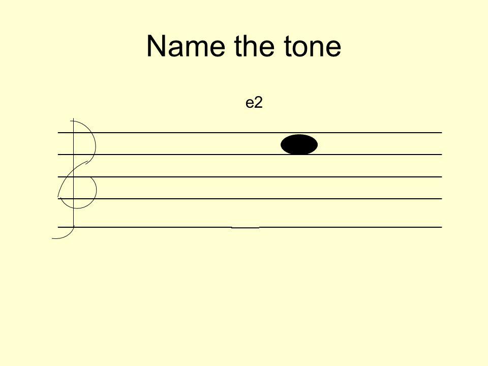 Name the tone e2 _________________________________________________________ __________________________ ___ ___________________________