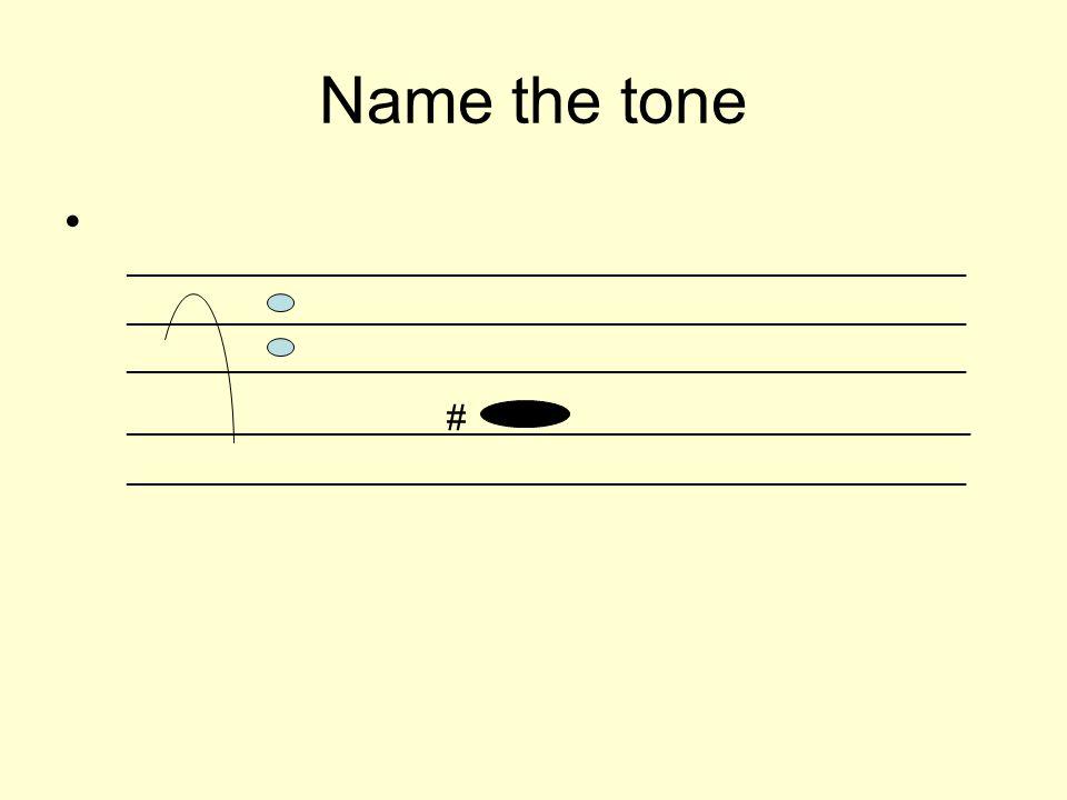 Name the tone _________________________________________________________ ______________________ # __________________________________ __________________