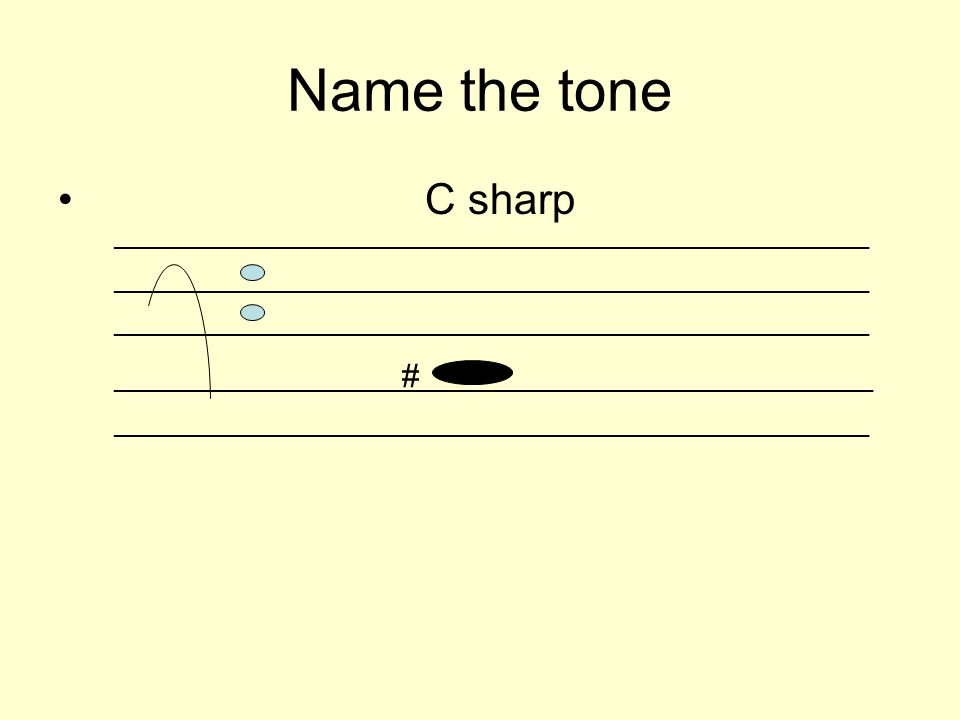 Name the tone C sharp _________________________________________________________ ______________________ # __________________________________ _________________________________________________________