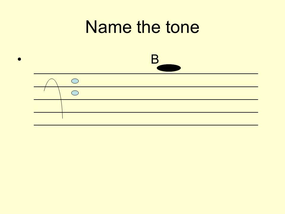 Name the tone B _________________________________________________________