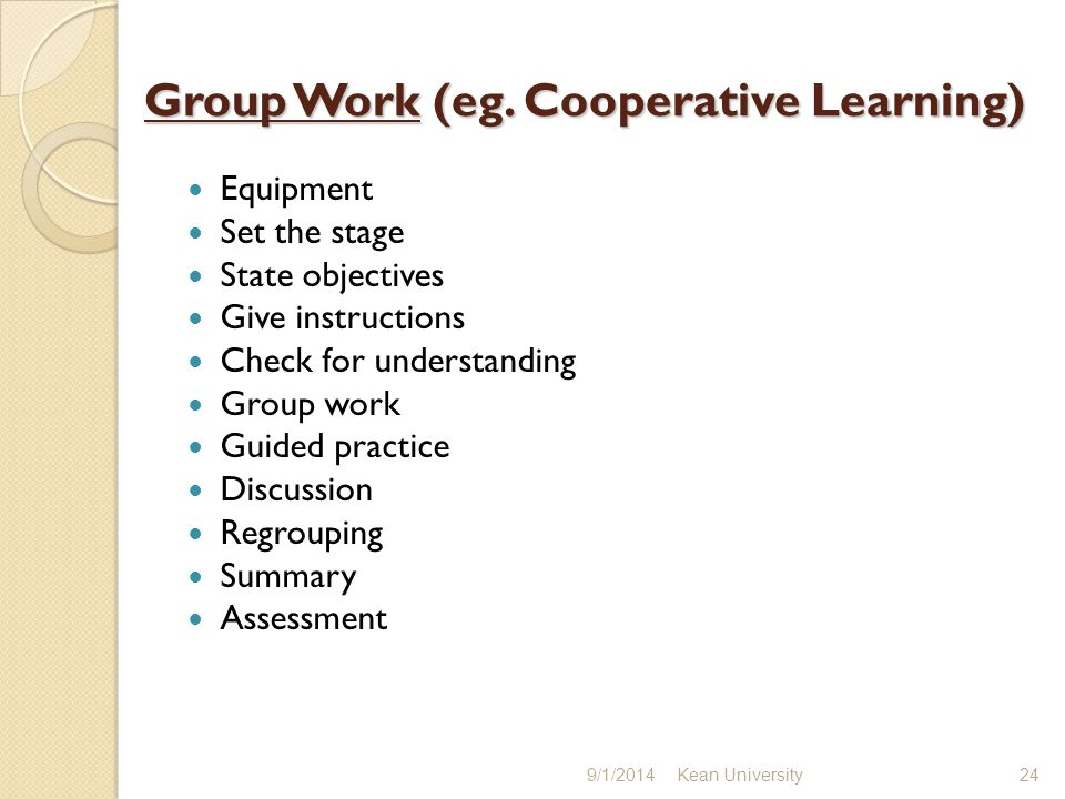 Group Work (eg.