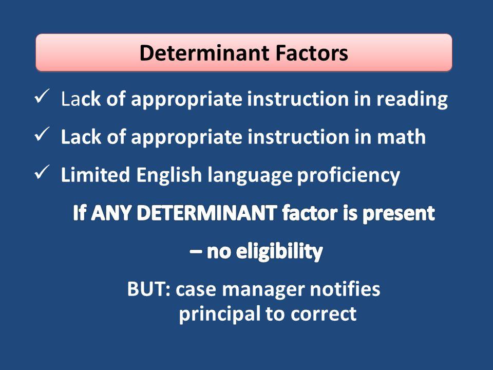 Determinant Factors