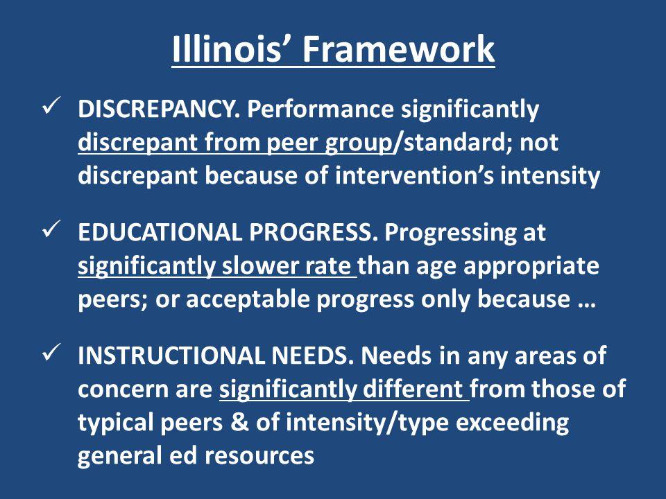 Illinois' Framework DISCREPANCY.