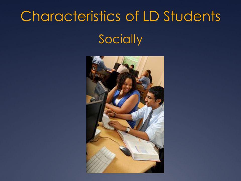 Socially Characteristics of LD Students