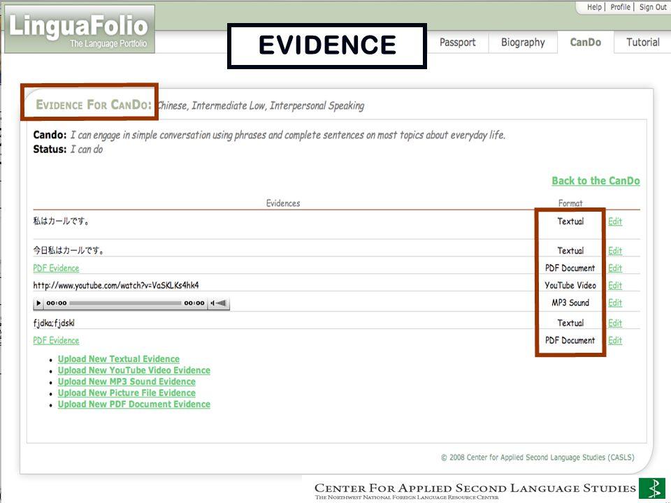 Uploading Evidence EVIDENCE