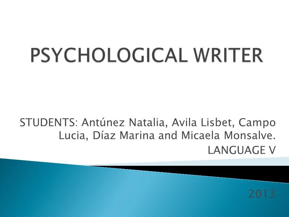STUDENTS: Antúnez Natalia, Avila Lisbet, Campo Lucia, Díaz Marina and Micaela Monsalve.
