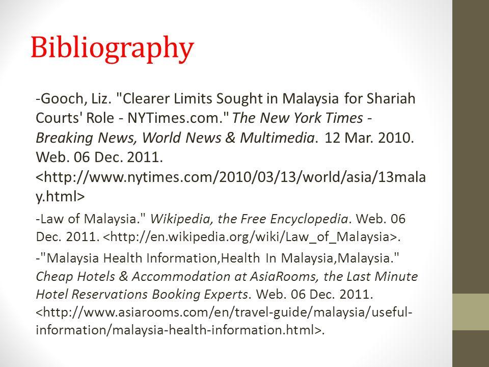 Bibliography -Gooch, Liz.