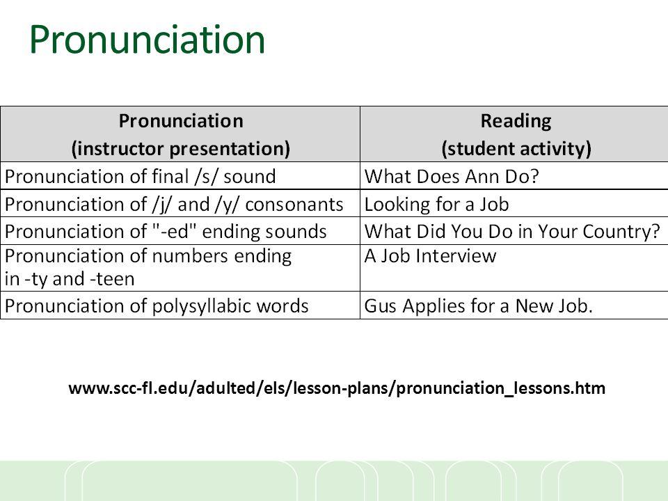 www.scc-fl.edu/adulted/els/lesson-plans/pronunciation_lessons.htm