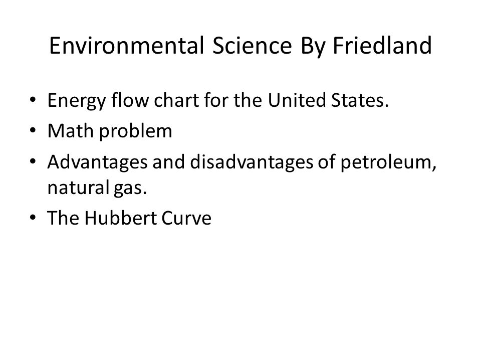 Environmental Science By Friedland Energy flow chart for the United States.