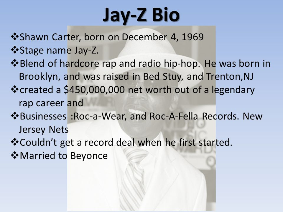 Favorite Songs by Jay-Z 10) Empire State of Mind 9) Dirt Off Your Shoulder 8) H to the Izzo 7) Change the Game 6) 22 Twos 5)Young Forever 4) It's A Hard Knock Life 3) Girls, Girls, Girls 2) 99 Problems