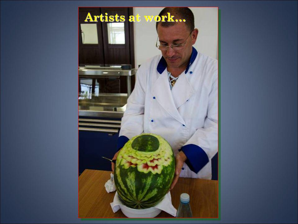 Artists at work…