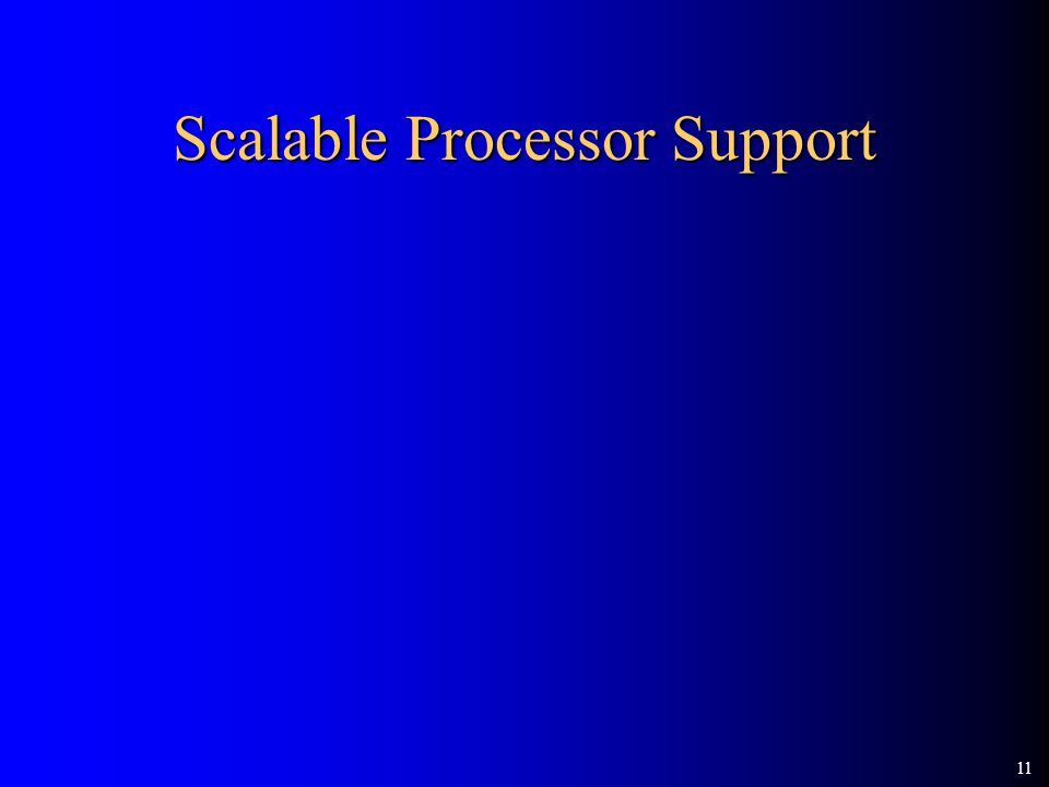 11 Scalable Processor Support