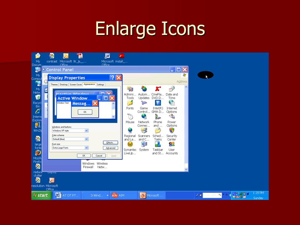 Enlarge Icons