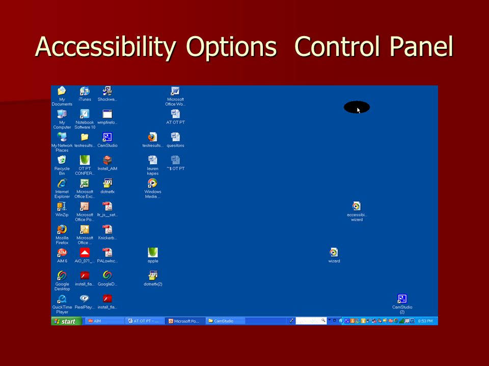 Accessibility Wizard