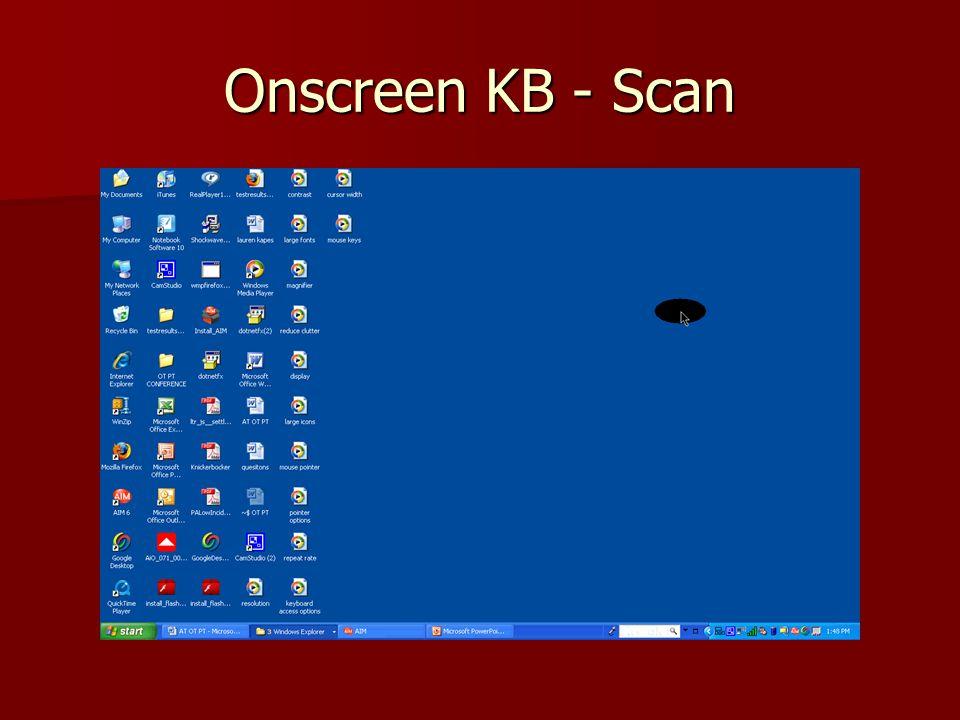 Onscreen KB - Scan