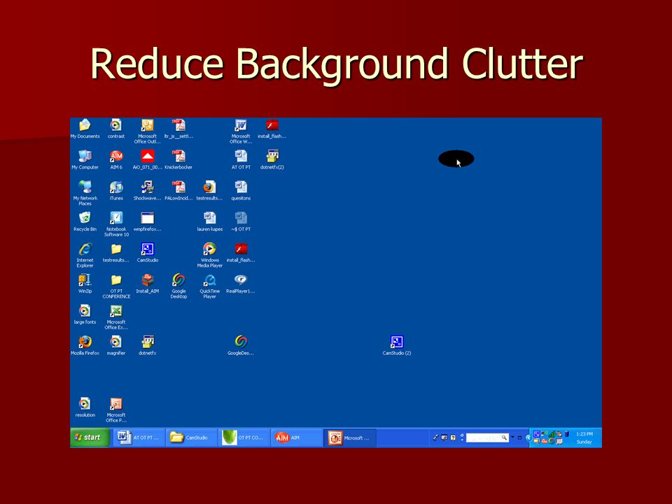 Reduce Background Clutter
