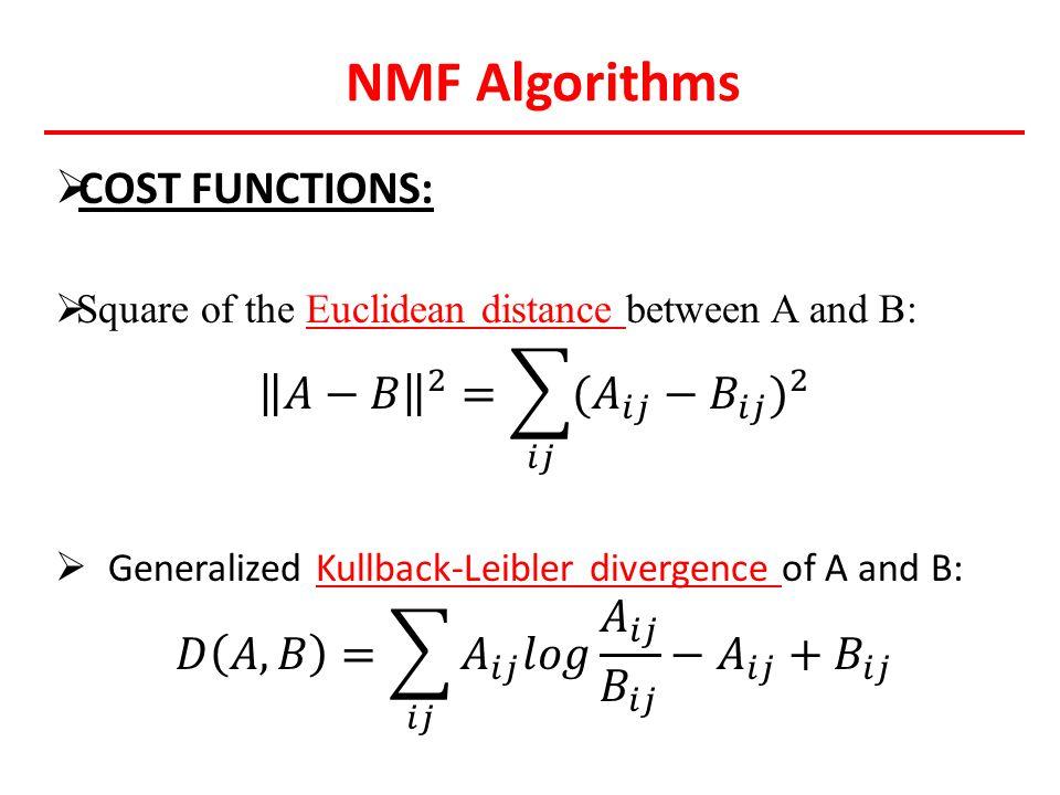 NMF Algorithms