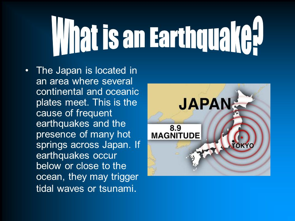 The Earthquake was a 8.9 on the Richter scale.