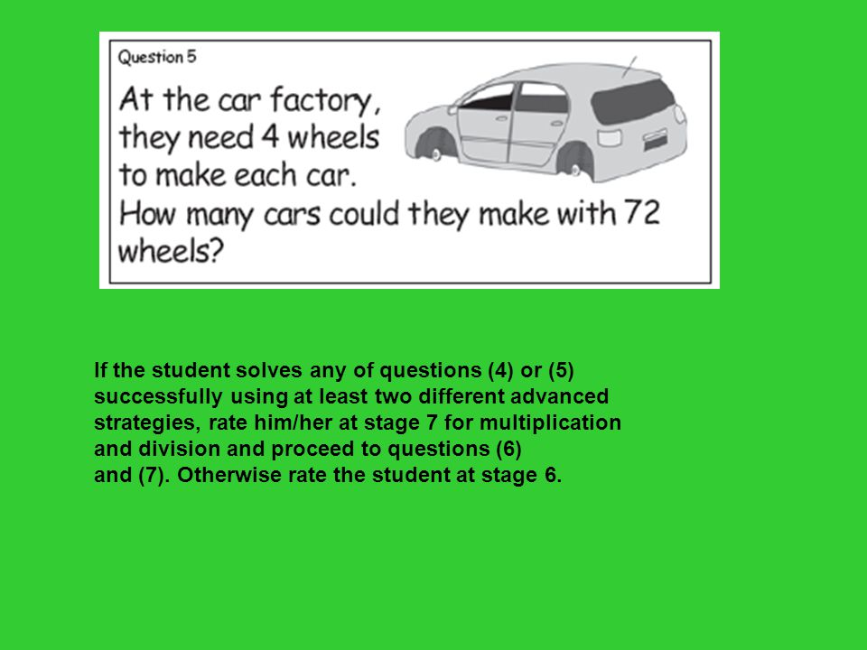 Basic Facts For the following questions, students should be rated by their fluent recall.