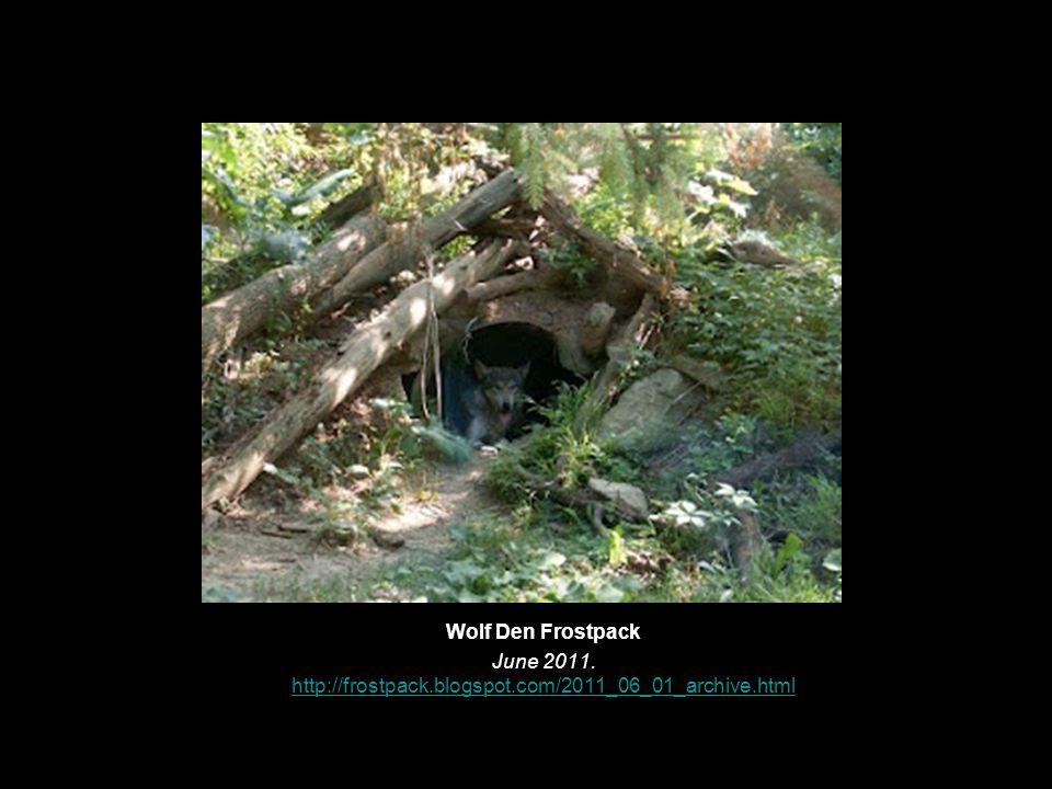 Wolf Den Frostpack June 2011.