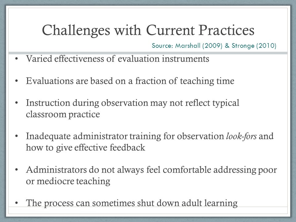 Challenges with Current Practices: The Widget Effect ...