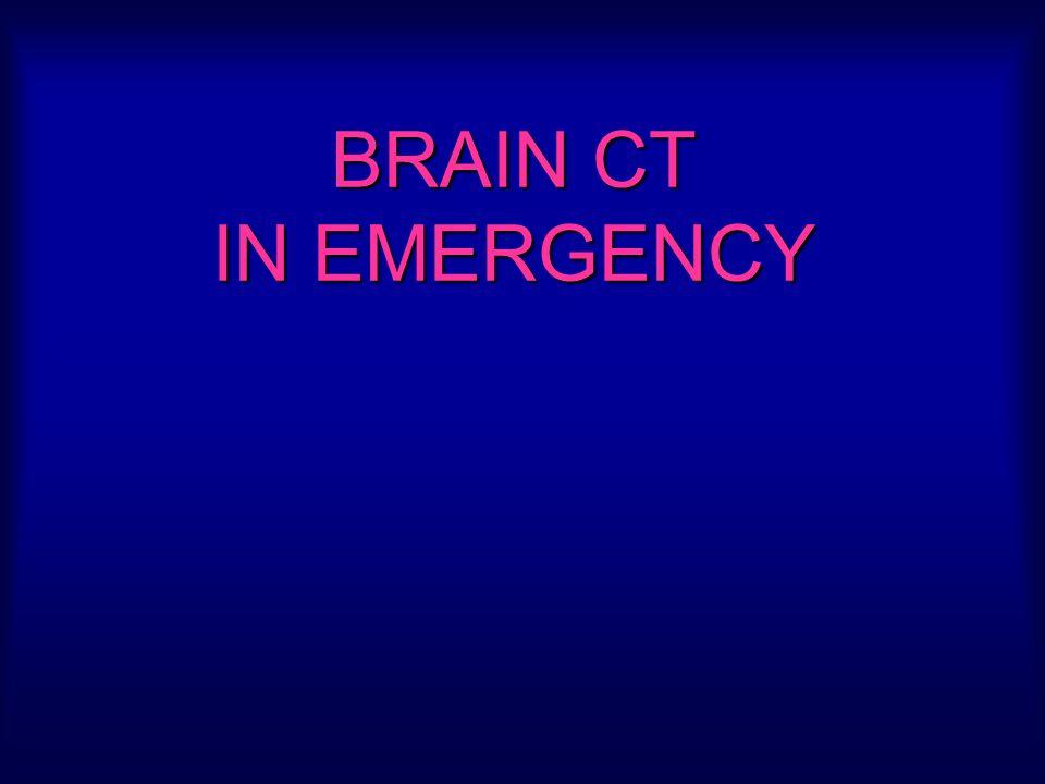 Lecture Objectives: Normal anatomy of brain CT Trumatic brain injury Subarachnoid hemorrhage Intraparenchymal hemorrhage Stroke Brain edema Cerebral herniation