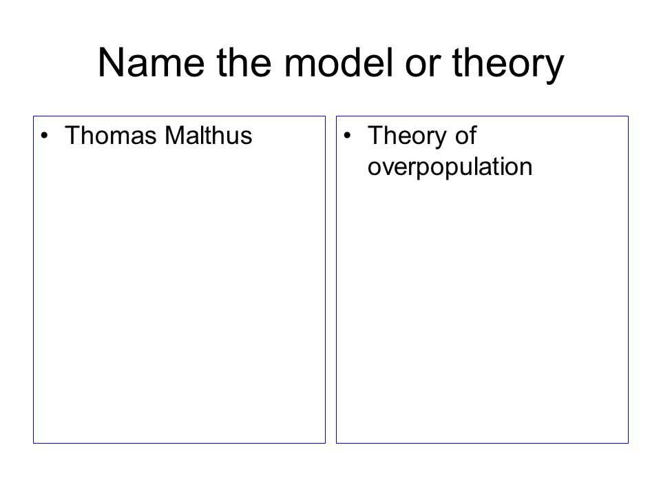Name the model or theory Immanuel WallersteinWorld Systems Theory Wallerstein = World
