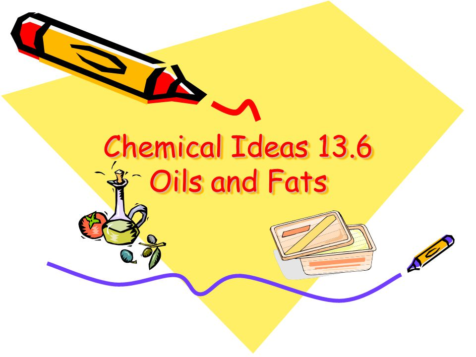 Chemical Ideas 13.6 Oils and Fats