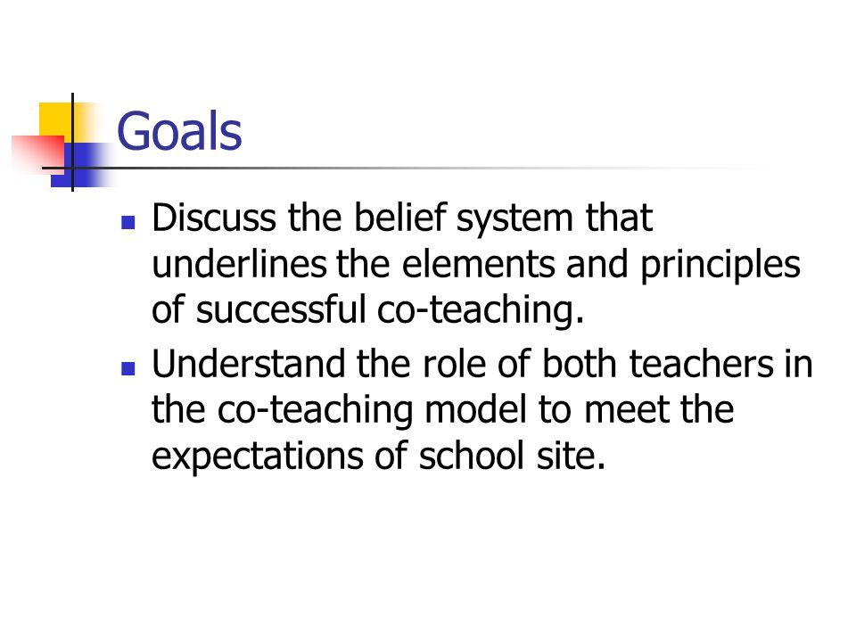 Co-Teaching for General Education Teachers: Sharing the Experience
