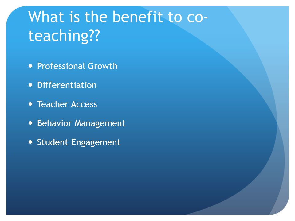 Effective Models of co-teaching Lead and Support Duet Speak and Add/Chart Skills Groups Station Teaching Parallel Teaching Adapting