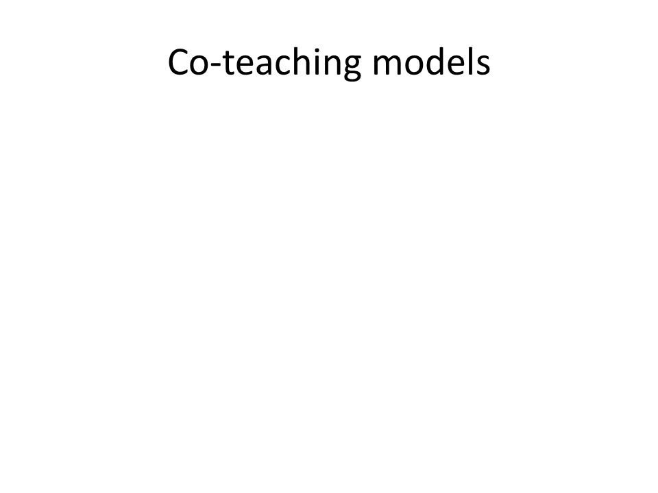 Co-teaching models