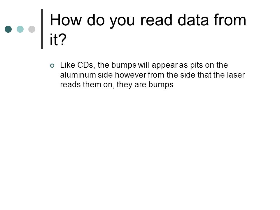 How do you read data from it.