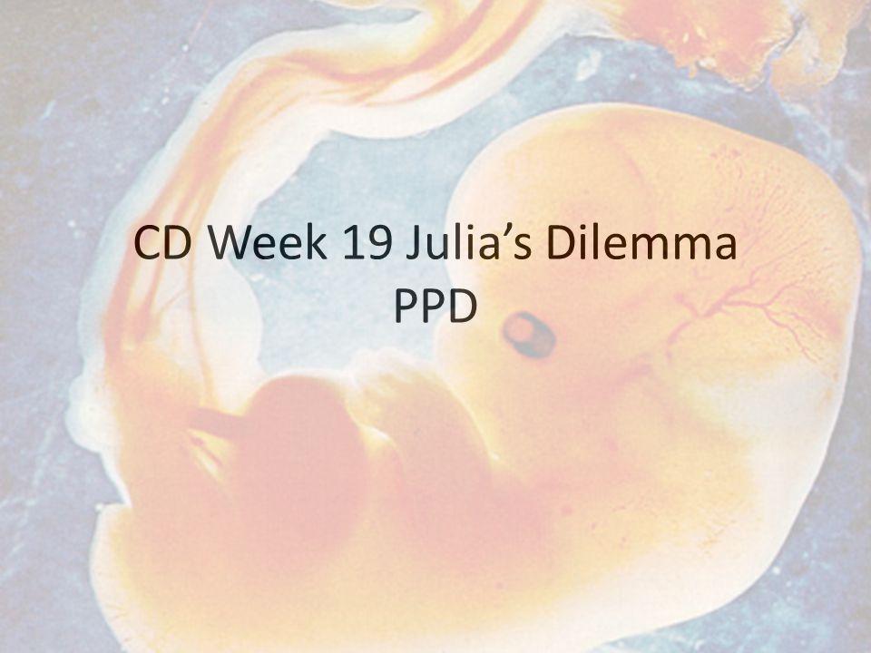 CD Week 19 Julia's Dilemma PPD