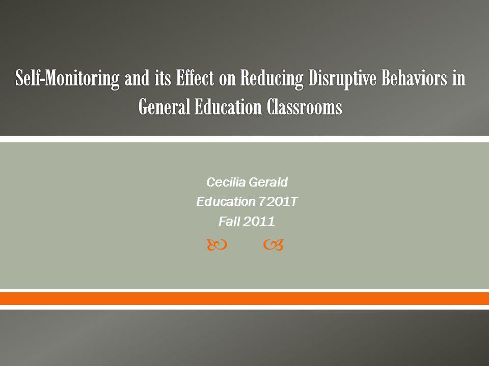  Cecilia Gerald Education 7201T Fall 2011