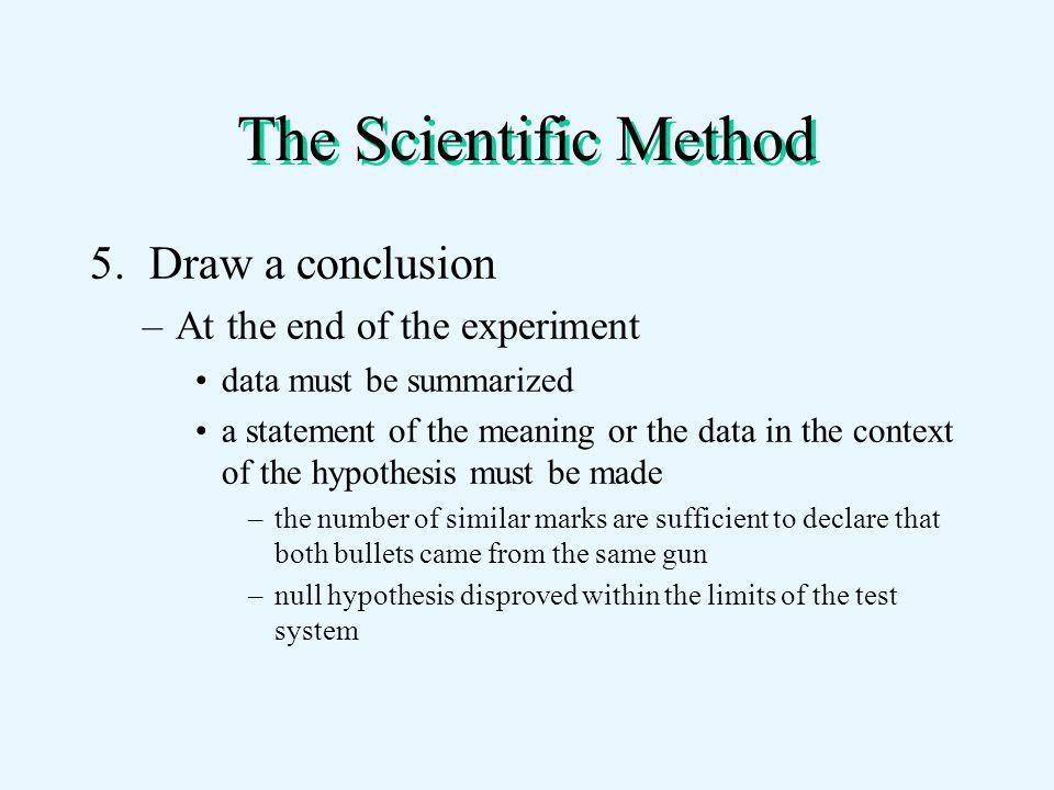 The Scientific Method 5.