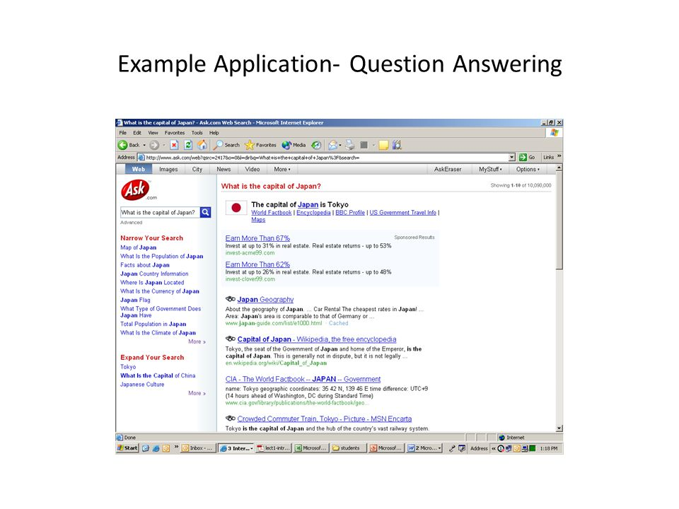 Example Application- Question Answering