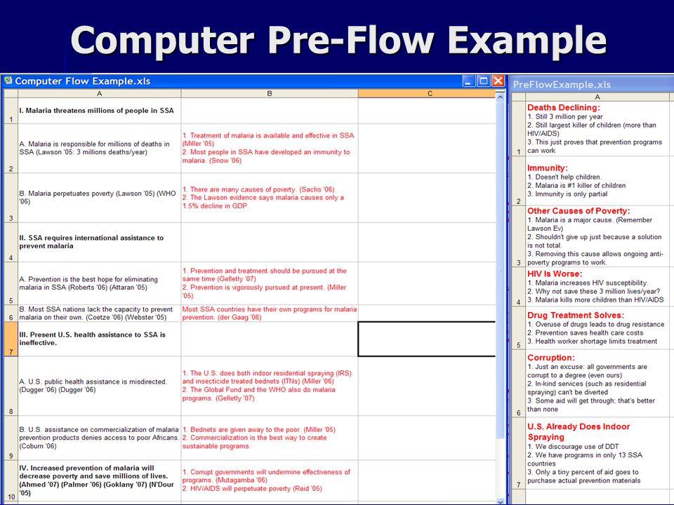 Computer Pre-Flow Example