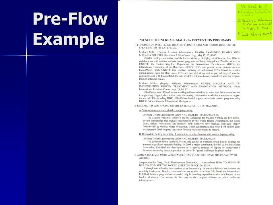 Pre-Flow Example