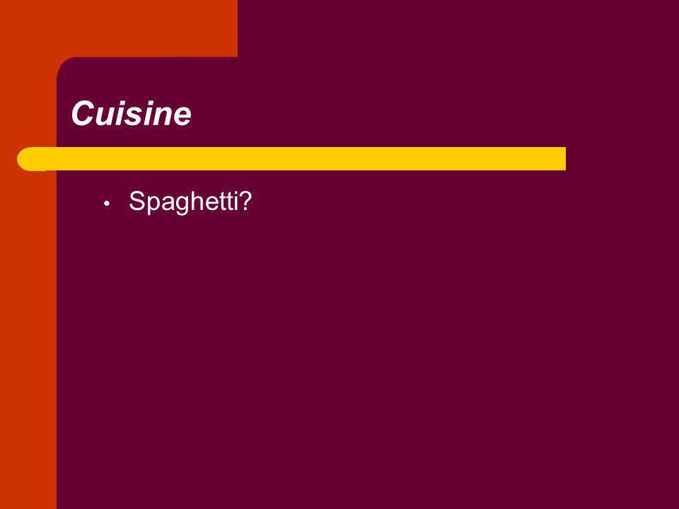 Cuisine Spaghetti?