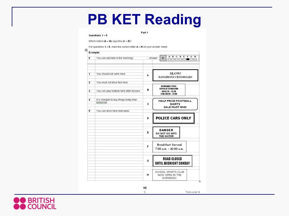 PB KET Reading
