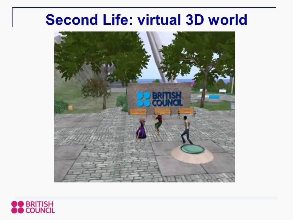 Second Life: virtual 3D world