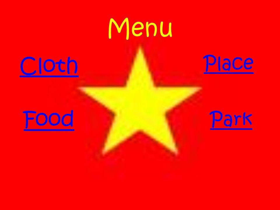 Menu Food Cloth Park Place