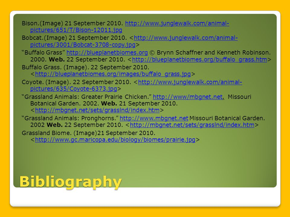 Bibliography Bison.(Image) 21 September 2010.