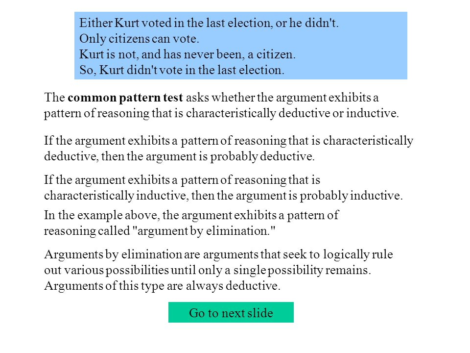 Either Kurt voted in the last election, or he didn t.