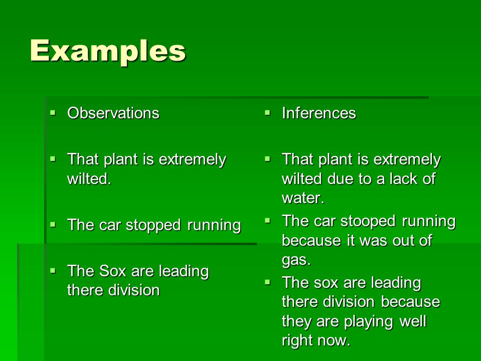 List 3 inferences about the classroom 1.2.3.