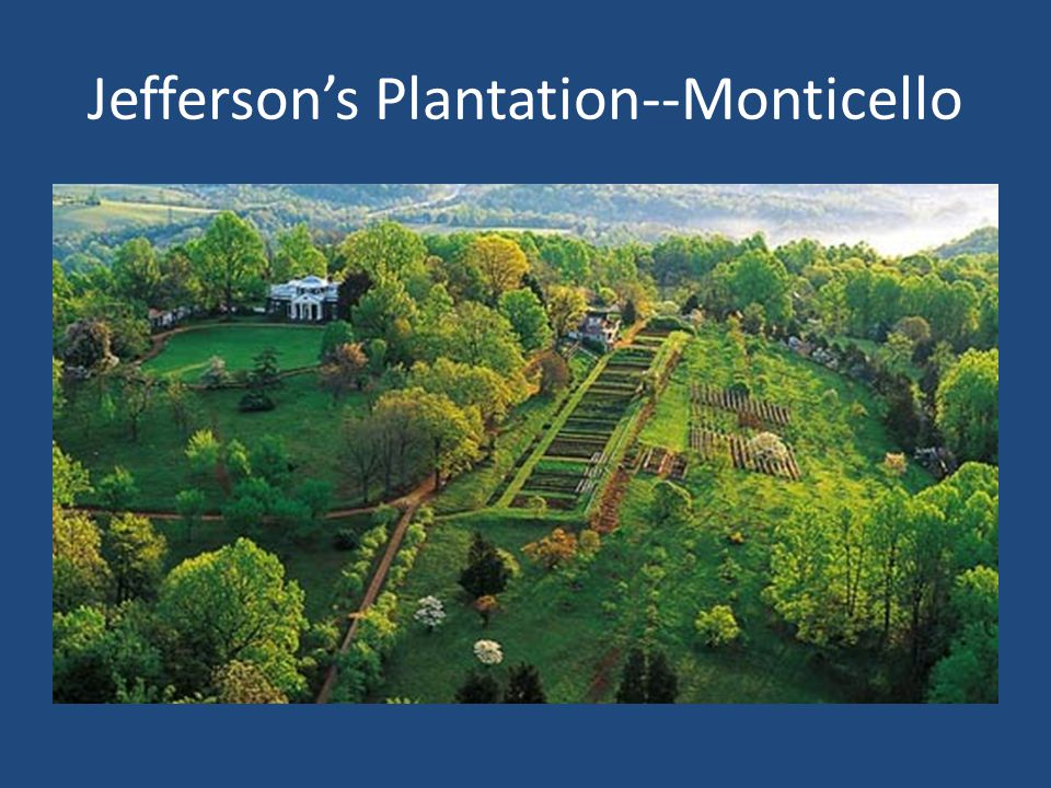 Jefferson's Plantation--Monticello