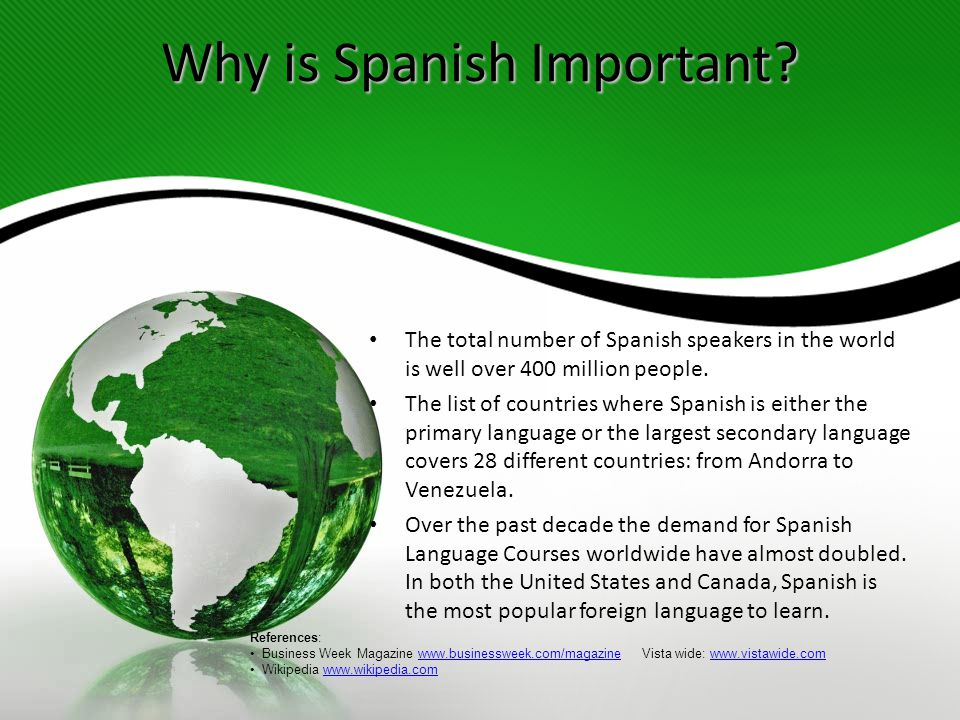 Why is Spanish Important.