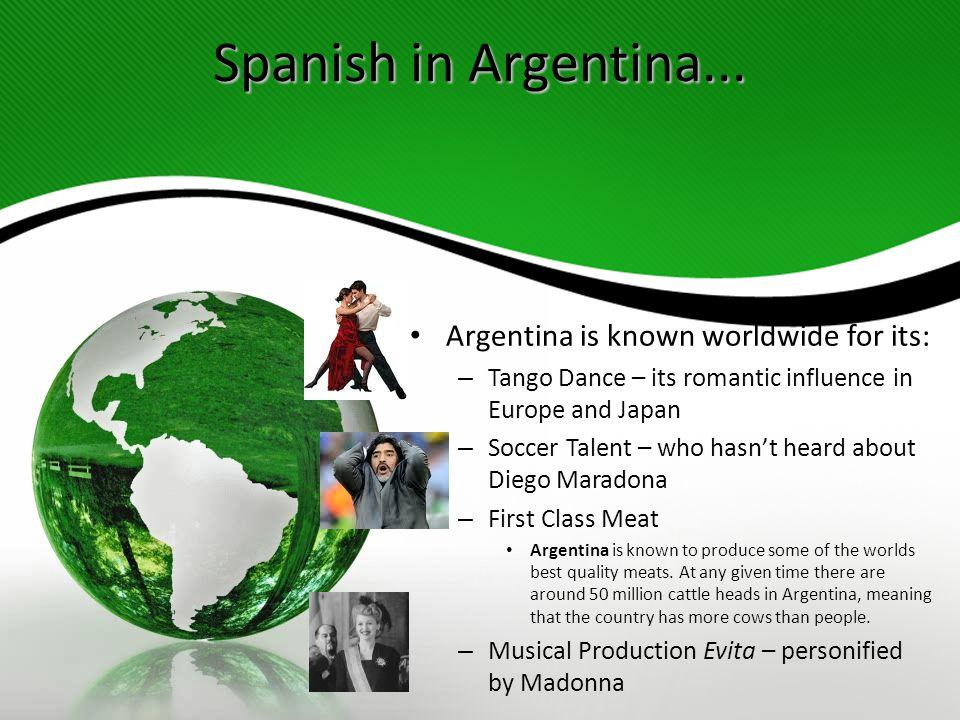 Spanish in Argentina...