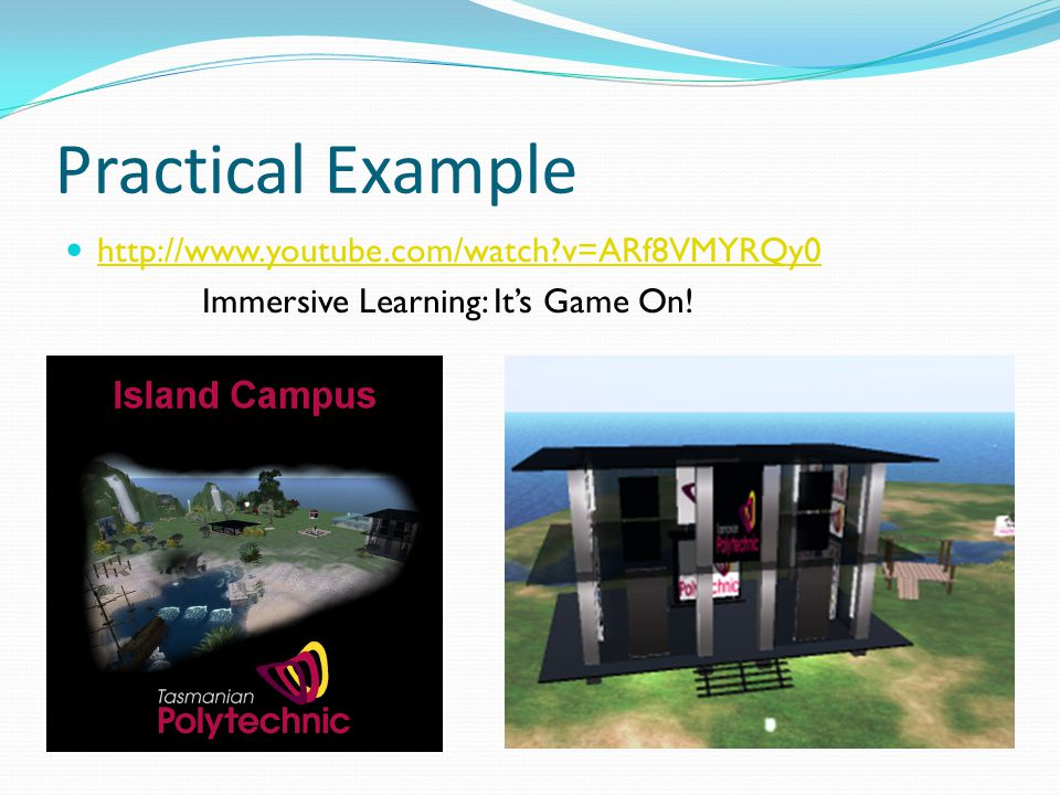 http://secondlife.com/whatis/ http://sl.nmc.org/join/ http://secondlifegrid.net/how/education_and_training http://teen.secondlife.com/whatis http://www.flickr.com/photos/hclearning/sets/72157601759232526/ http://virtualworlds.nmc.org http://slurl.com/secondlife/Teaching/112/117/23 http://jokaydia.com http://bit.ly/arAla http://virtualworlds.flexiblelearning.net.au/content/section%204.4(P&Doverview).ht m- http://virtualworlds.flexiblelearning.net.au/content/section%204.4(P&Doverview).ht m- http://virtualworlds.flexiblelearning.net.au/content/section%204.5(introduction).htm http://thejournal.com/articles/2007/08/09/the-teen-grid-bringing-your-school-into- second-life.aspx http://thejournal.com/articles/2007/08/09/the-teen-grid-bringing-your-school-into- second-life.aspx http://sleducation.wikispaces.com/educationaluses http://sites.google.com/site/rogerstackonline/ http://www.youtube.com/watch?v=qOFU9oUF2HA http://video.google.com.au/videosearch?q=educational%20uses%20of%20second%20 life&hl=en&safe=active&um=1&ie=UTF-8&sa=N&tab=wv# http://video.google.com.au/videosearch?q=educational%20uses%20of%20second%20 life&hl=en&safe=active&um=1&ie=UTF-8&sa=N&tab=wv# http://www.youtube.com/watch?v=Mro9Qzv--k8&feature=related Sarah Robbins: A pretty crazy ride - The History of Education and Second Life- REZED REVIEW Volume 2.