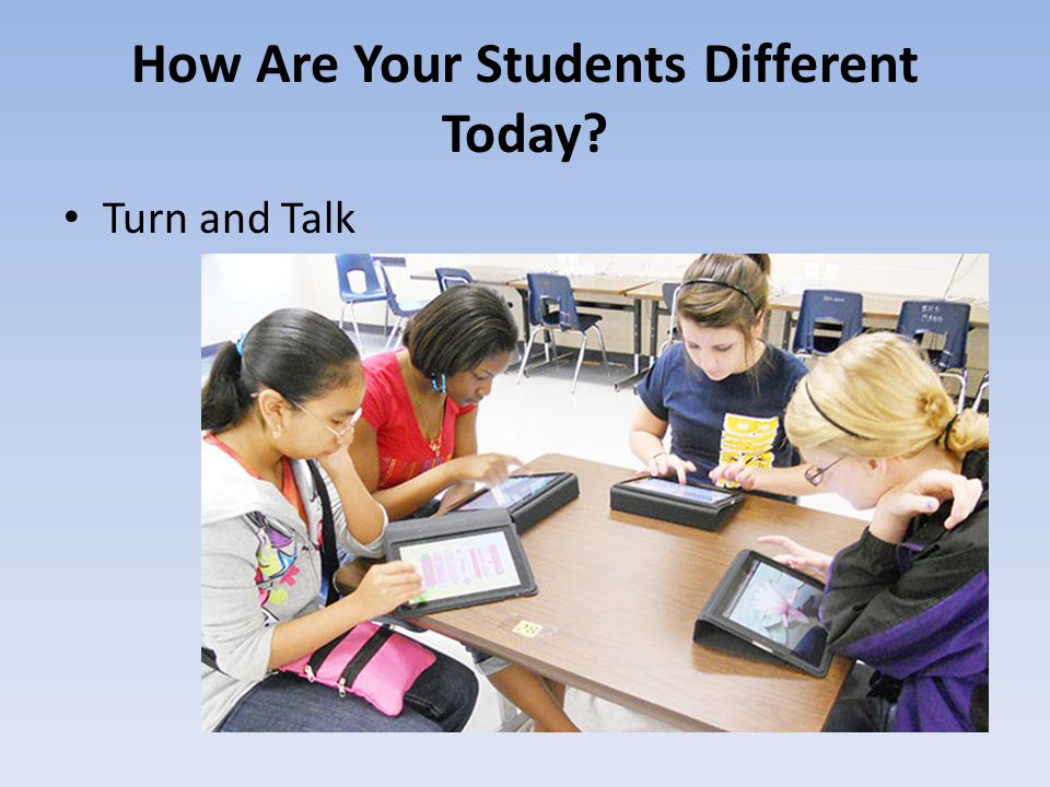 How Are Your Students Different Today? Turn and Talk